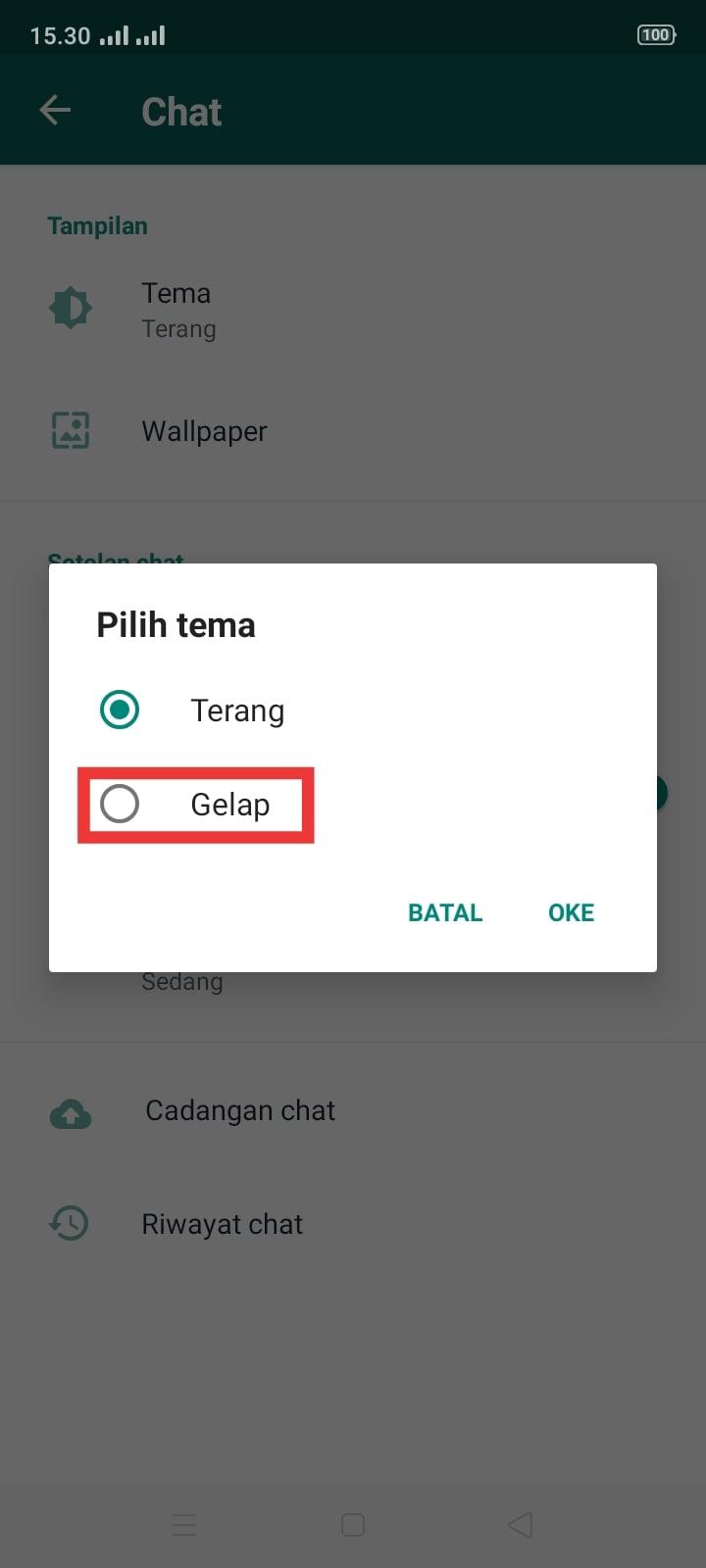 Cara Aktifkan Mode Gelap Whatsapp