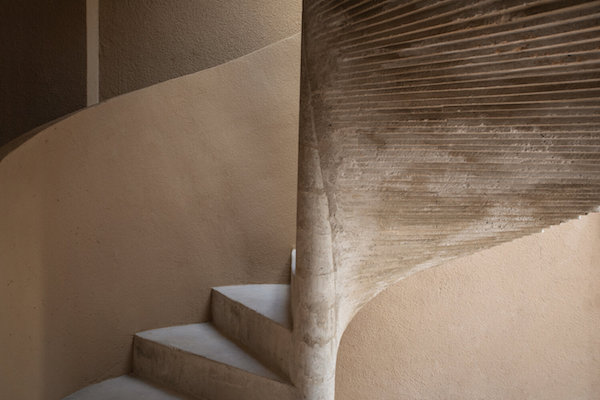 stair in natural materials