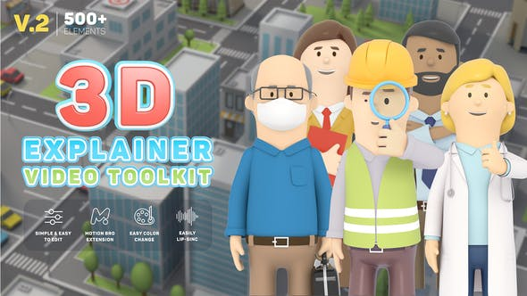 3D Characters Explainer Toolkit V2[Videohive][After Effects][26491556]