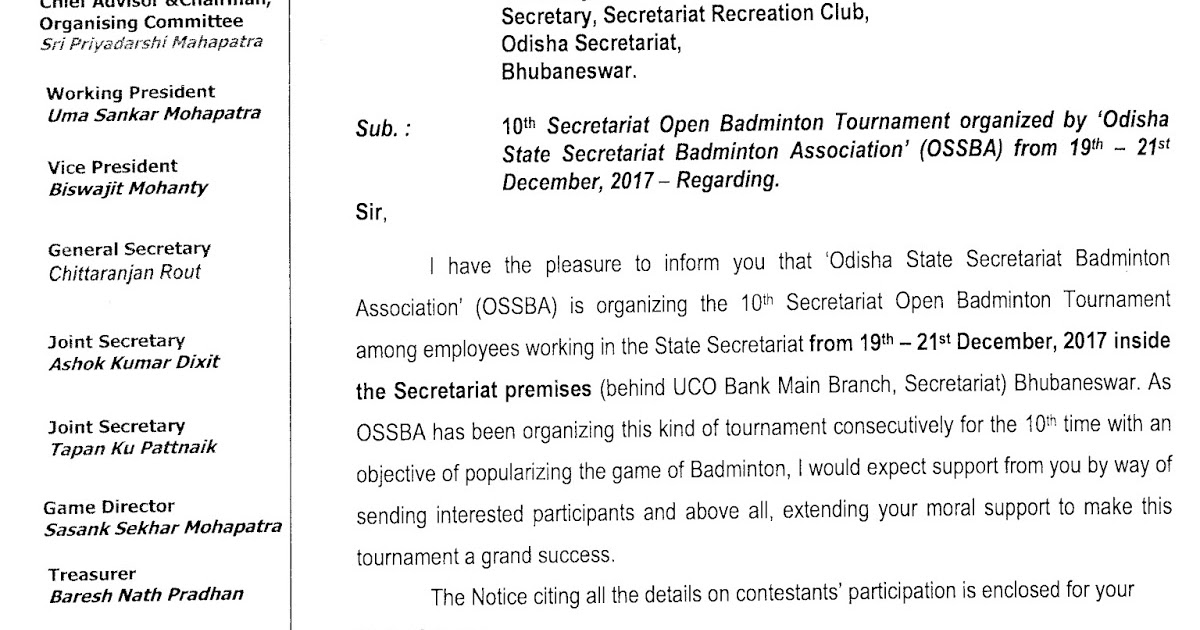 Works Department Odisha 10th Open Badminton Tournament