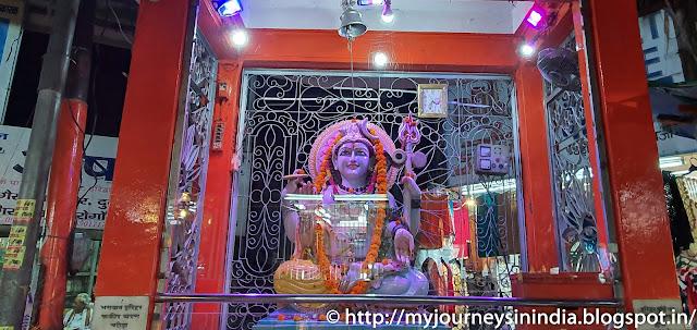 Lord Shiva on the Shopping street Near Har-Ki-Pauri Haridwar