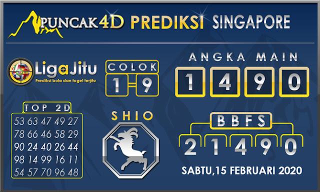 PREDIKSI TOGEL SINGAPORE PUNCAK4D 15 FEBRUARI 2020