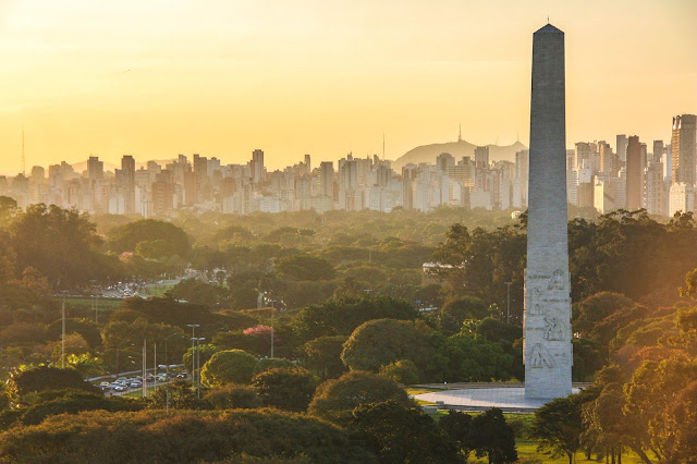 Pôr do Sol no Parque do Ibirapuera, em São Paulo