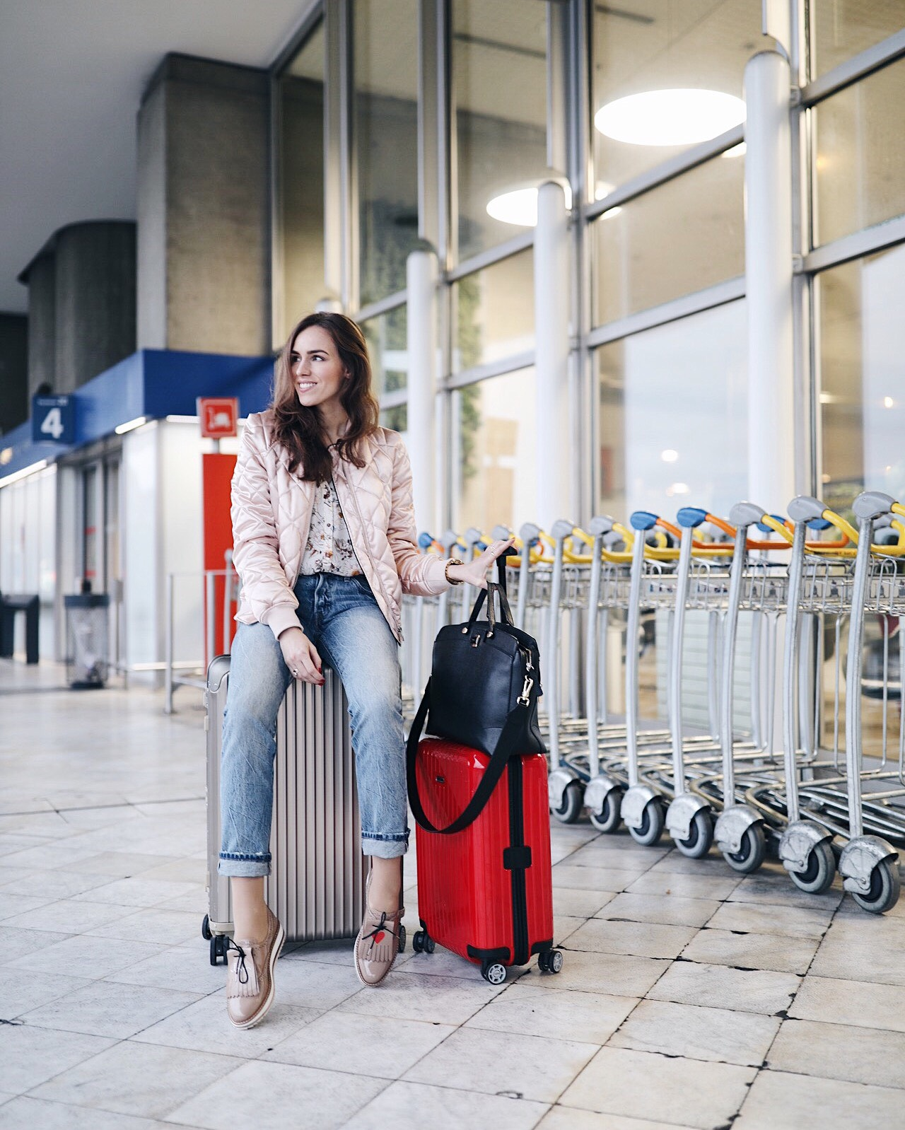airport style rimowa luggage fashion