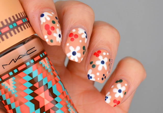 Disco Flower Nail Art
