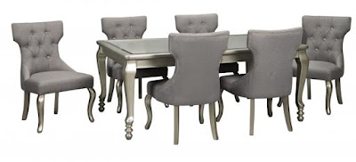 dining set with upholstered chairs