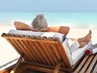 sunbathing on the beach (aka deckchair trader)