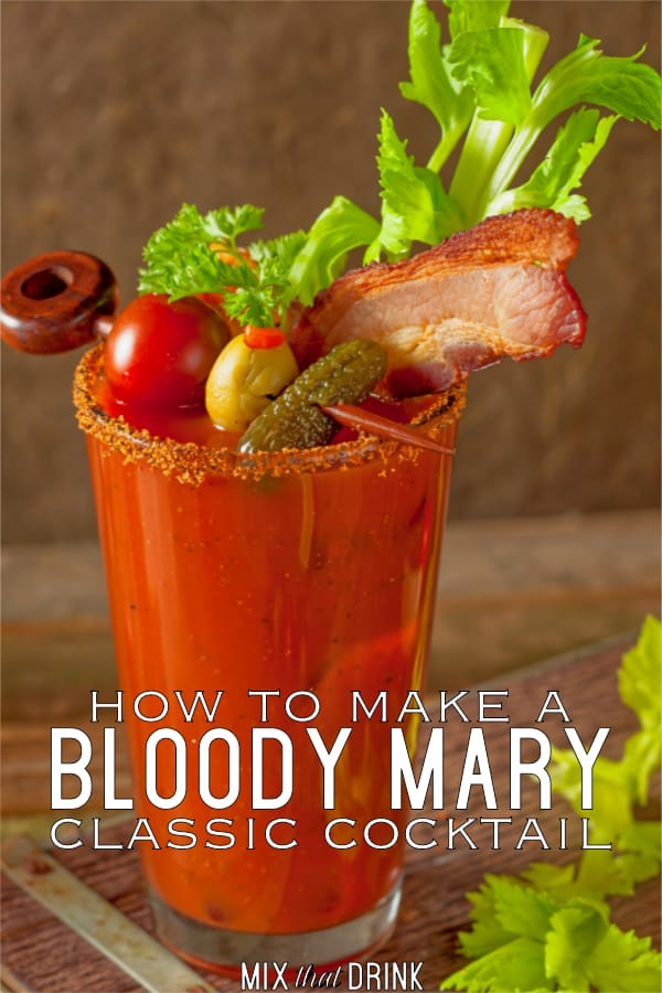 The classic Bloody Mary Cocktail Recipe blends vodka with tomato juice, Worcestershire sauce, Tobasco, lemon juice and celery salt. This simple recipe tastes wonderful, but you can add more Tobasco if