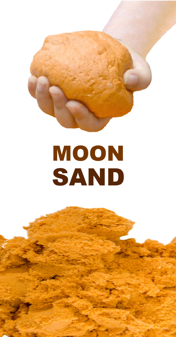 Make your own pumpkin moon sand using this easy recipe for play! #pumpkinmoonsand #moonsandrecipe #moonsand #playdoughrecipe #growingajeweledrose #activitiesforkids