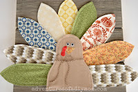 fabric turkey decoration