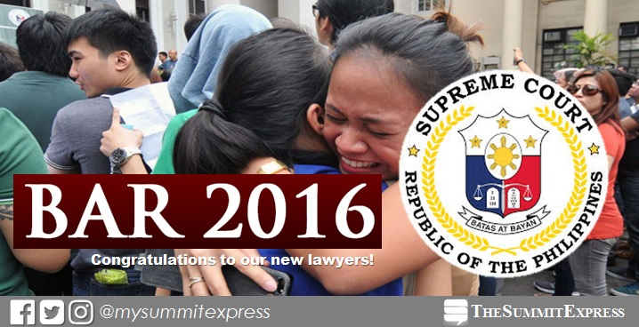 RESULTS: Over 59% pass 2016 bar exam - reports