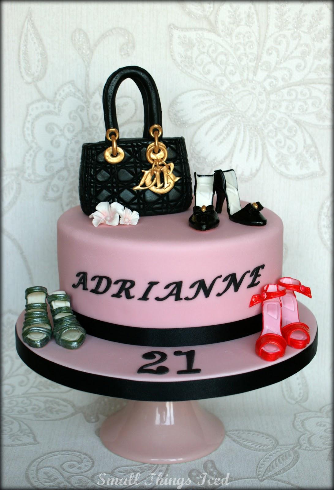 Small Things Iced Handbag Amp Shoes Birthday Cake