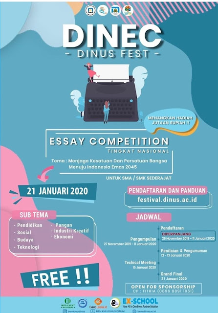 Dinus Essay Competition (DINEC)📖 Nasional