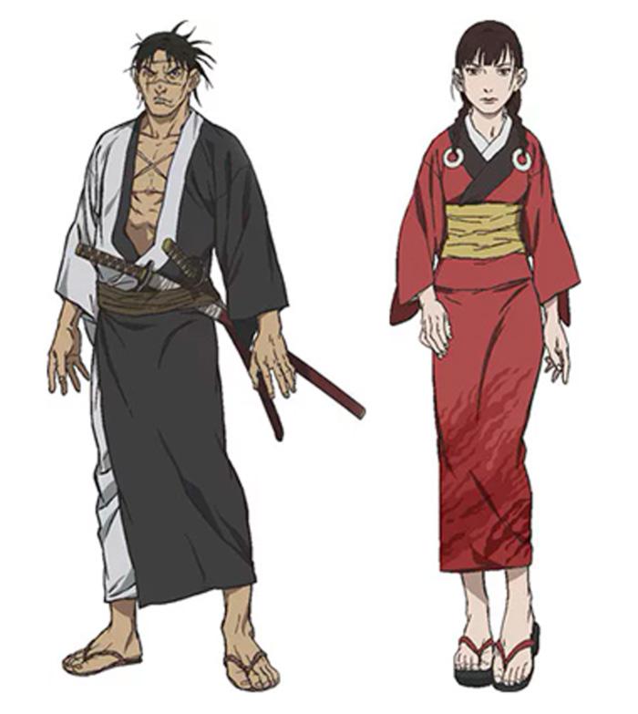 La espada del inmortal (Mugen no Juunin) anime 2019 - personajes