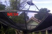 mesh satellite dish