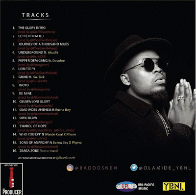 """PHOTO: Olamide- """"The Glory"""" [Zip Folder, Untagged, Track By Track]"""