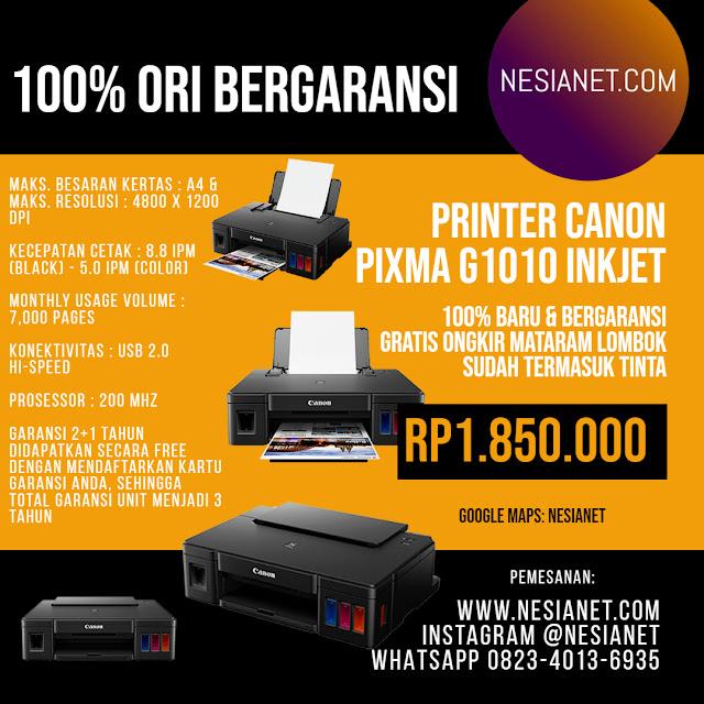 Jual Canon Pixma G1010 Inkjet Printer Mataram Lombok