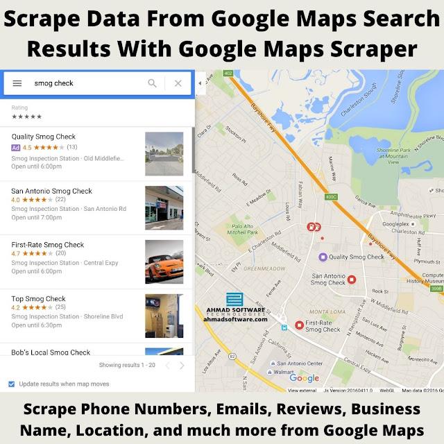Google Maps Location Scraper, Google Maps Search Results Scraper