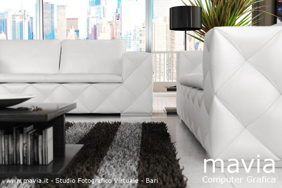 Arredamento di interni 3d modello divano sofa in pelle di for Siti di arredamento interni