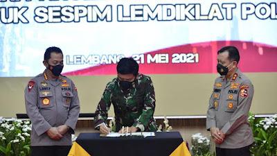 Panglima dan Kapolri Kunjungi Lembaga Pendidikan TNI dan Polri