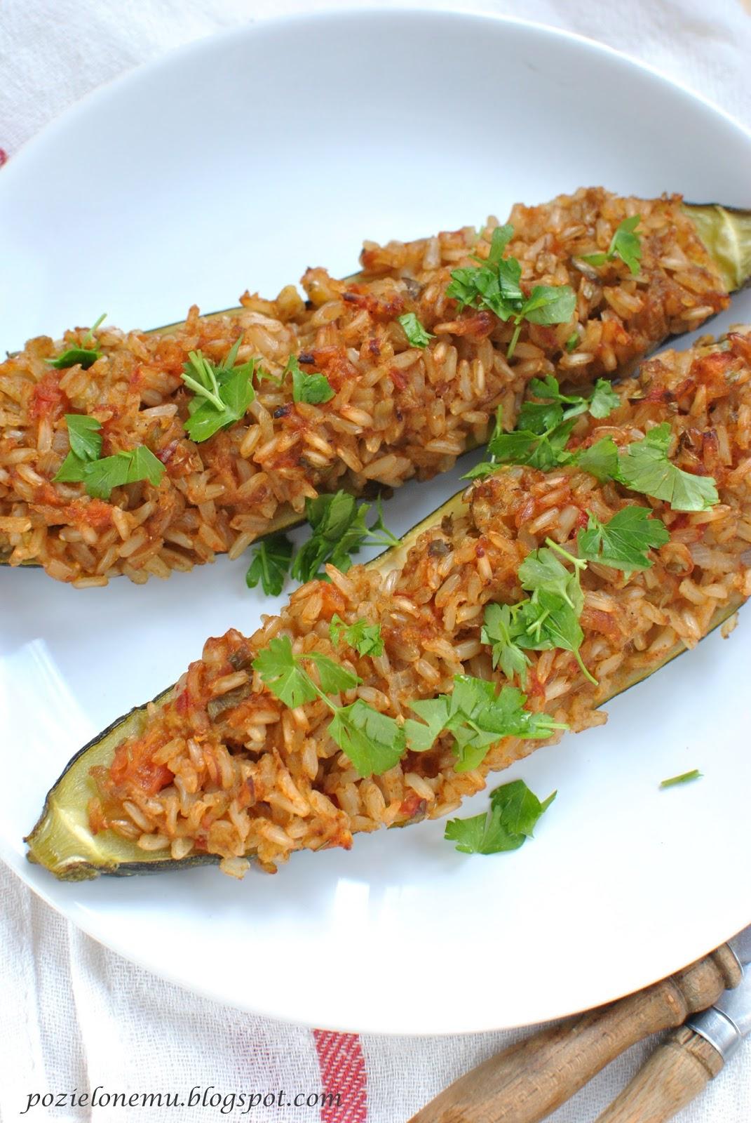 cukinia faszerowana ryżem