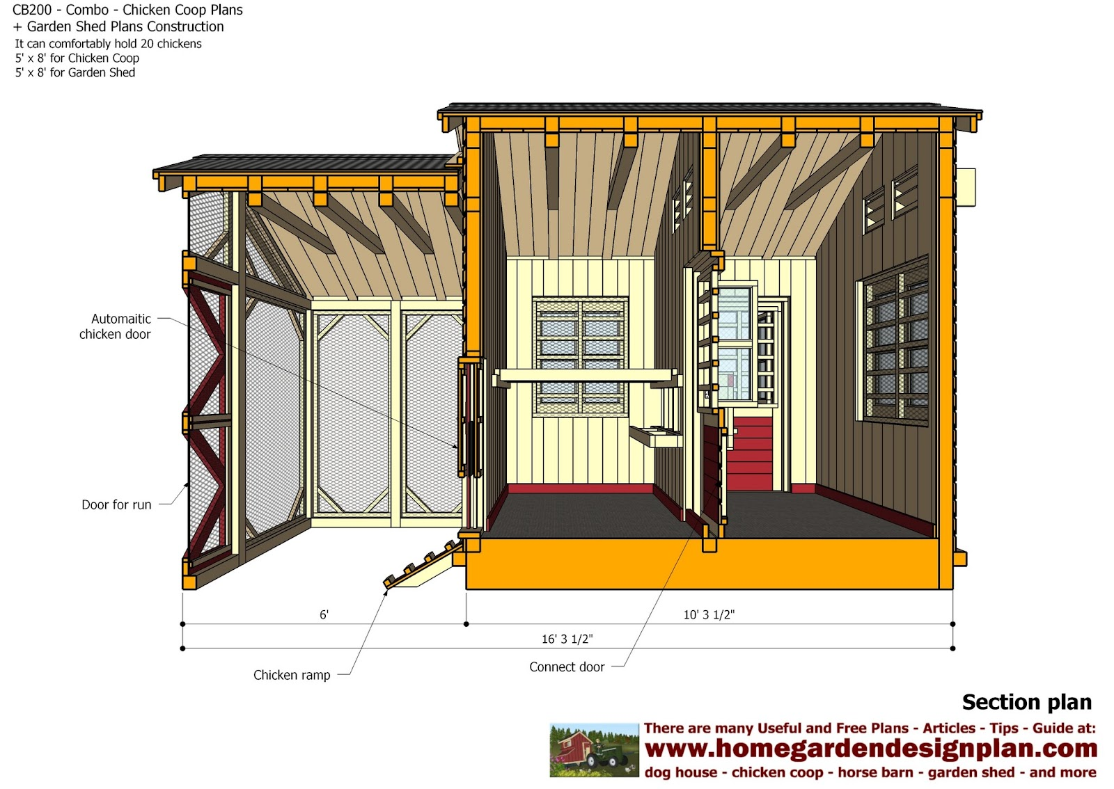 Home garden plans cb200 combo plans chicken coop for Building planner