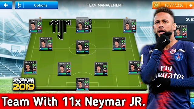 Team With 11 Neymar In Dream League Soccer 2019