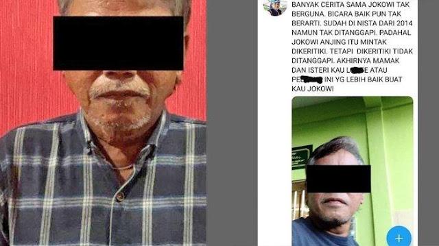 Pria di Kepri Ditangkap Gegara Bikin Cuitan Hina Jokowi