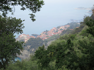 The village of Tellaro, Liguria from above.