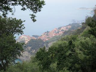 The village of Tellaro, Liguria from above.