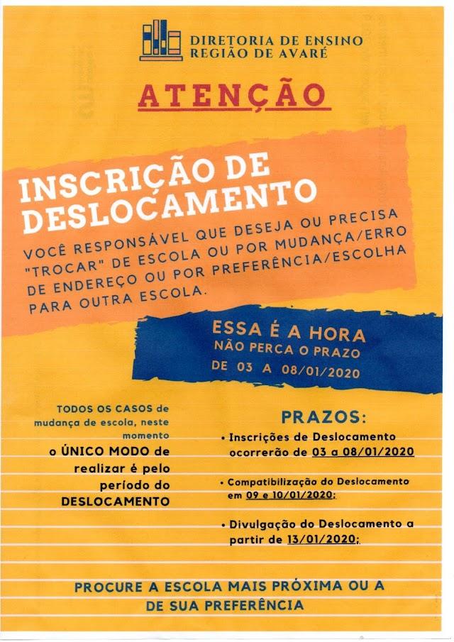 COMUNICADO IMPORTANTE PARA QUEM PRECISA TROCAR DE ESCOLA