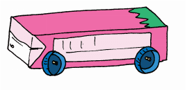 Masukan roda ke dalam sedotan dan badan kereta pun sudah terbentuk www.simplenews.me