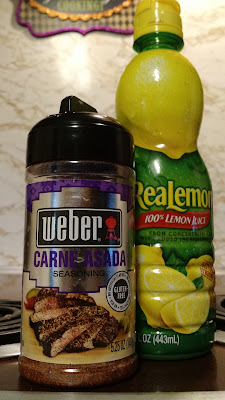 weber carne asada seasoning and realemon juice