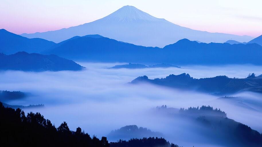 Mountain, Fog, Nature, Scenery, 4K, #6.966