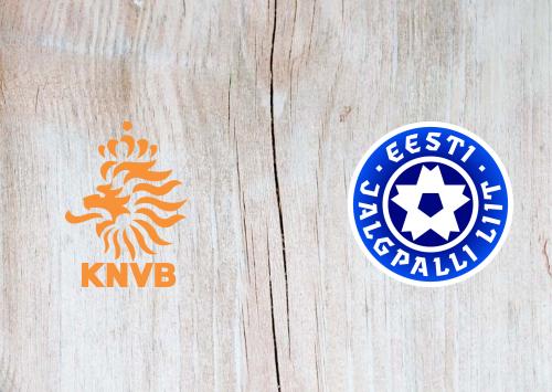 Netherlands vs Estonia Full Match & Highlights 19 November 2019