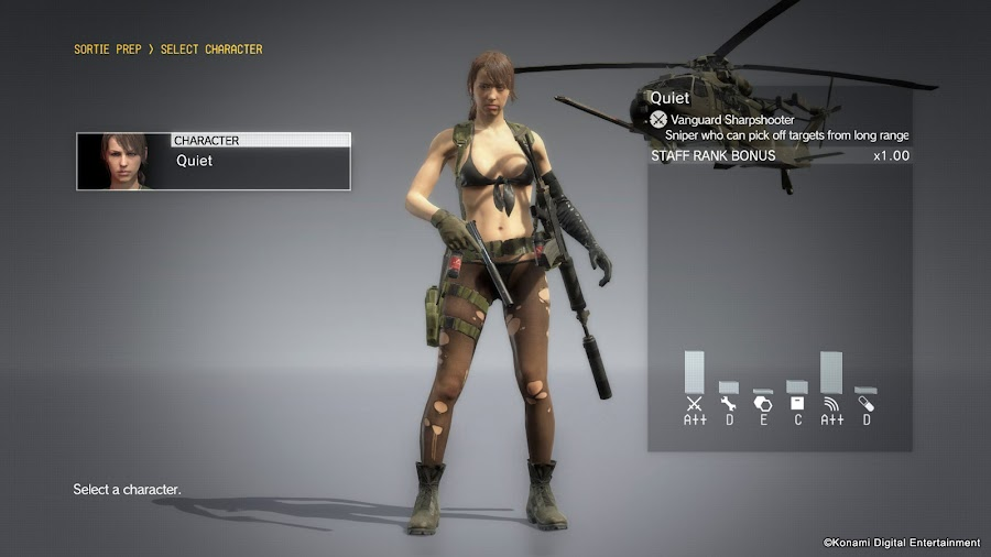 metal gear solid 5 quiet playable update
