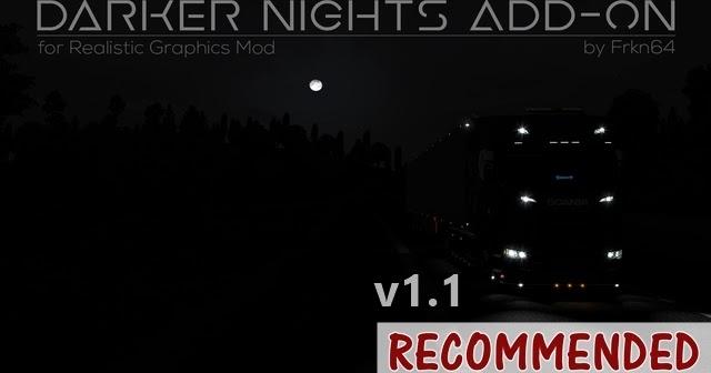 Sinagrit Baba's Workshop: ETS 2 - Darker Nights Add-On v1 1