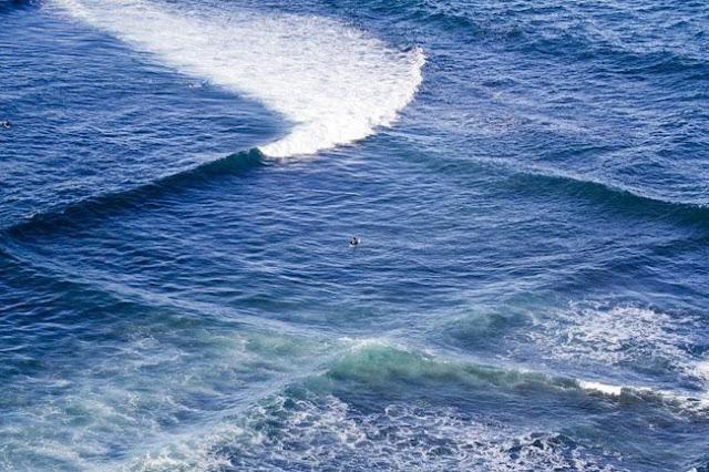 أجمل وأغرب أشكال أمواج البحر المتداخلة او المتقاطعة Cross Sea