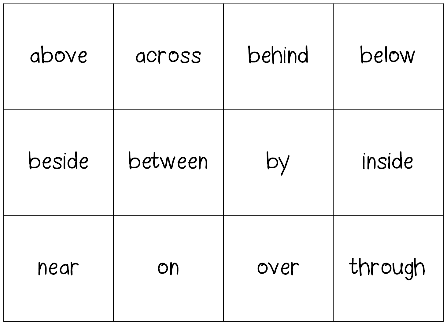 Preposition Games For Young Learners