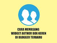 Jadikan Gaya Author Box di Blogger Unik + Media Sosial
