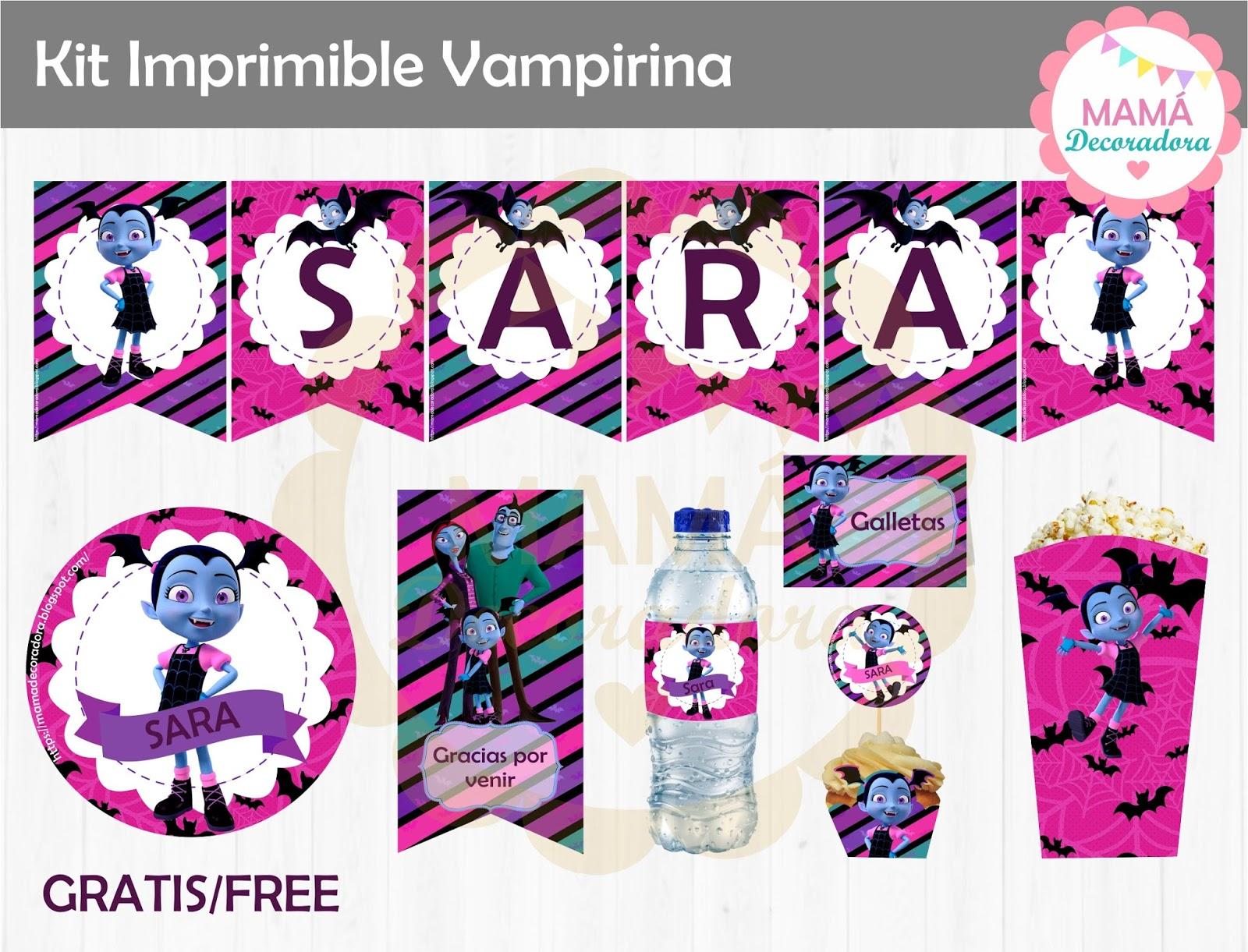 Mamá Decoradora Kit Imprimible Vampirina Gratis