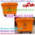 Thùng rác 660 lít nhựa HDPE 4 bánh xe màu cam