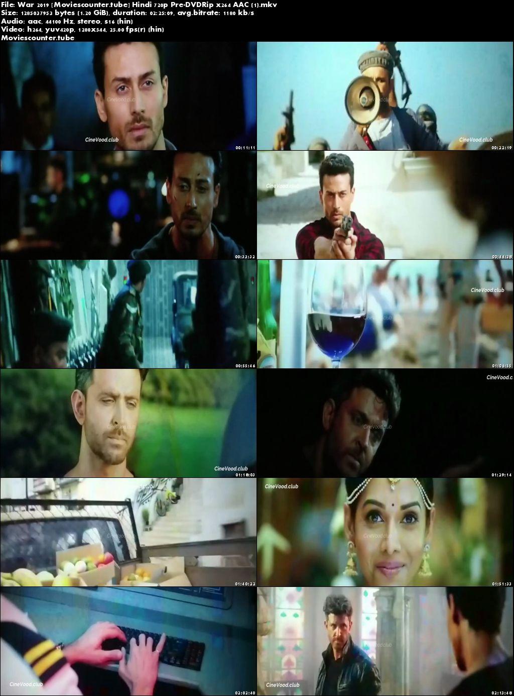 Screen Shots War 2019 Hindi HD 300Mb
