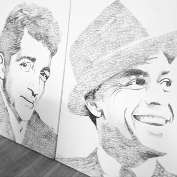 10-Dean-Martin-and-Frank-Sinatra-Alexis-Fraser-Portraits-Painted-with-Lipstick-and-Kisses-www-designstack-co
