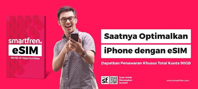 Pengguna Iphone dapat Nikmati E-SIM Smartfren