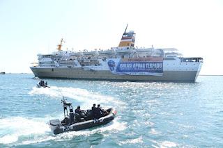 Dirjen Hubla Tinjau Kapal Pelni Sebagai Tempat Isoman di Makassar