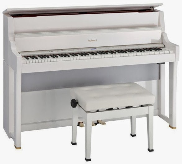 Roland LX15e white digital piano