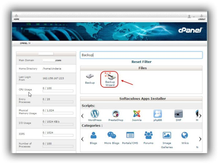 cPanel-backup-wizard