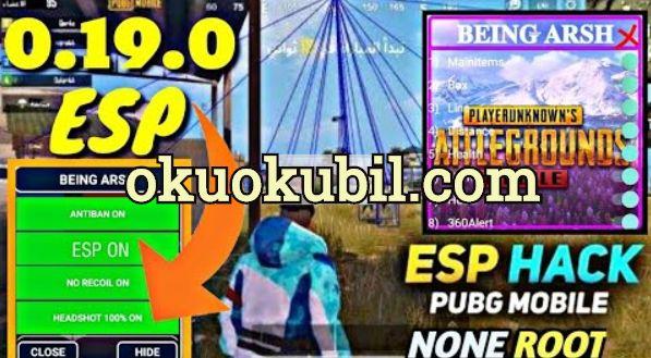 Pubg Mobile 0.19.0 Being Arsh Esp Menu None Root, Wallhack APK - Sezon 14 İndir