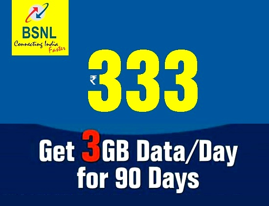 BSNL launches USSD activation of new Unlimited Voice & Data Offers 333, 339, 349 & 395